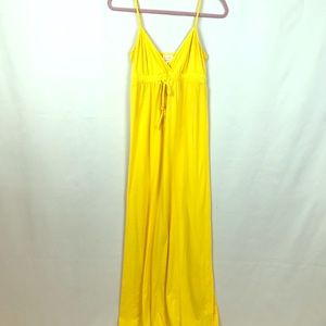 Small Long 💛 Bright Yellow Maxi Dress
